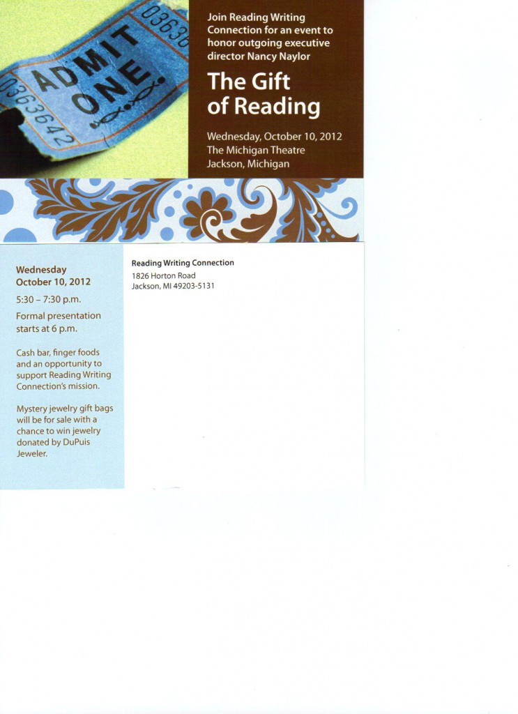 The Gift of Reading Event, reading writing connection, dyslexia